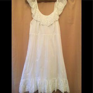 Ann Taylor Loft Sleeveless Eyelet Dress